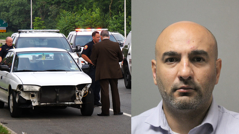 Police: Driver charged after officer on motorcycle was struck in Nassau  County