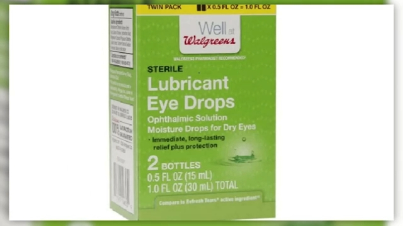 Eye drops and ointments sold at Walmart and Walgreens recalled