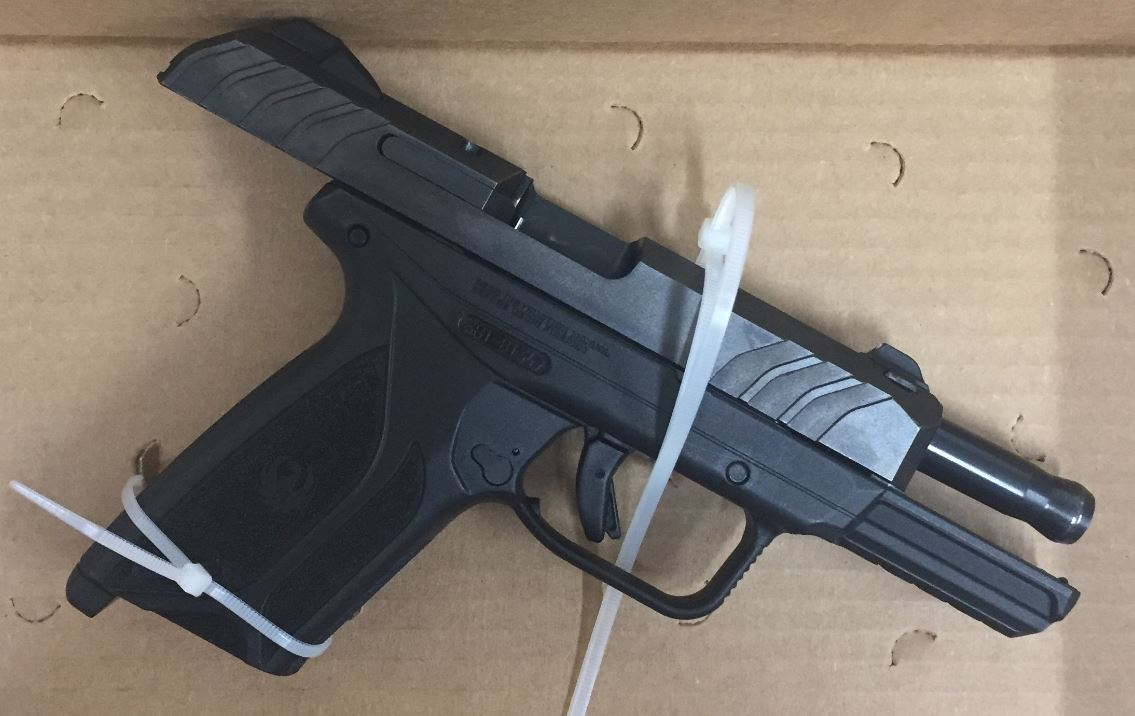 Police say they confiscated this gun from Yonatan Wondimu during a traffic stop June 28, 2019 in Evanston.