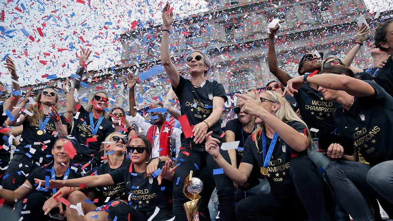 d5d8b7bf New York City holds ticker-tape parade honoring Women's World Cup ...
