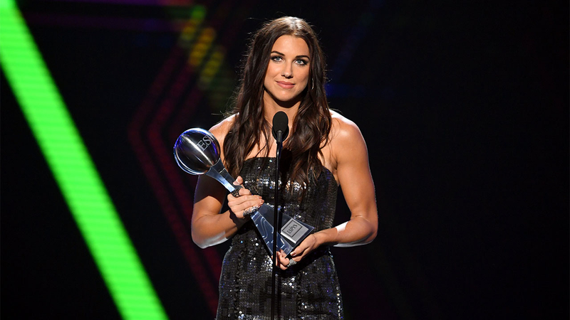 alex morgan at 2019 espys women are more than just athletes