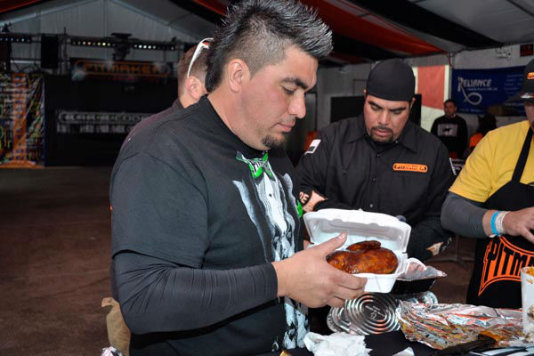 """<div class=""""meta image-caption""""><div class=""""origin-logo origin-image none""""><span>none</span></div><span class=""""caption-text"""">The Pitmaker crew gave a behind the scenes look at how they prepare their delicious entries at the World's Championship Bar-B-Que Contest (KTRK Photo/ Michael King)</span></div>"""