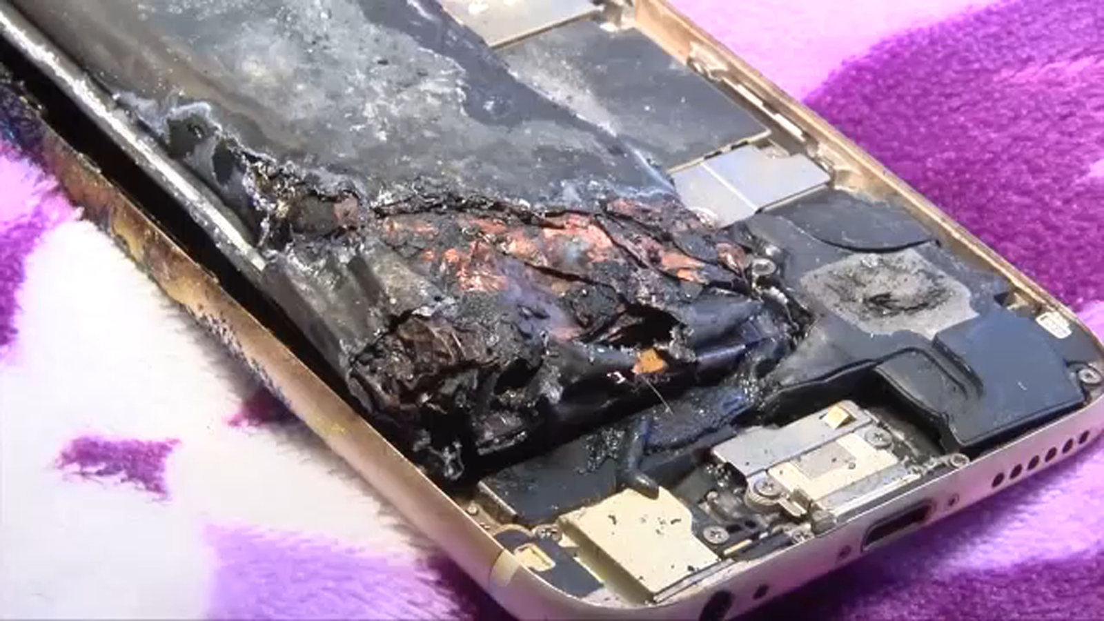 California girl says her iPhone 6 caught fire