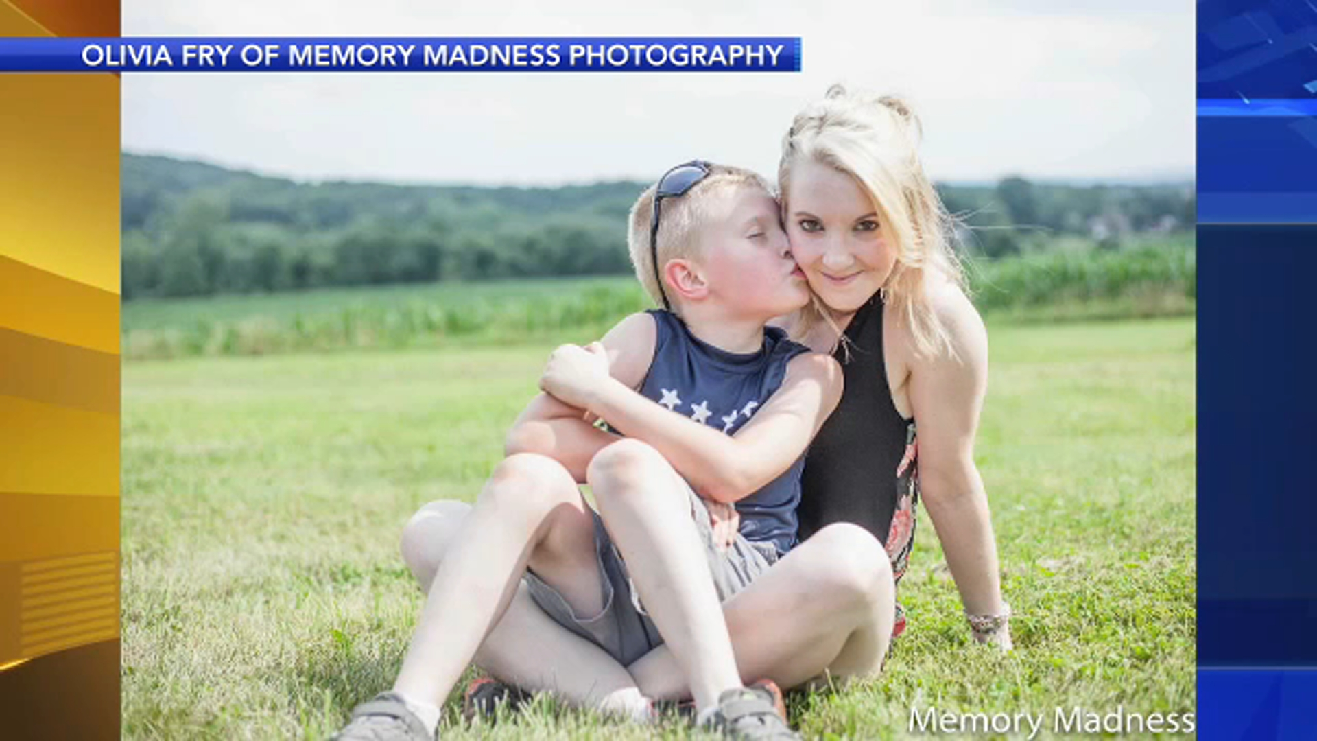 Pictured are Pamela Snyder and her son, Preston Dray.