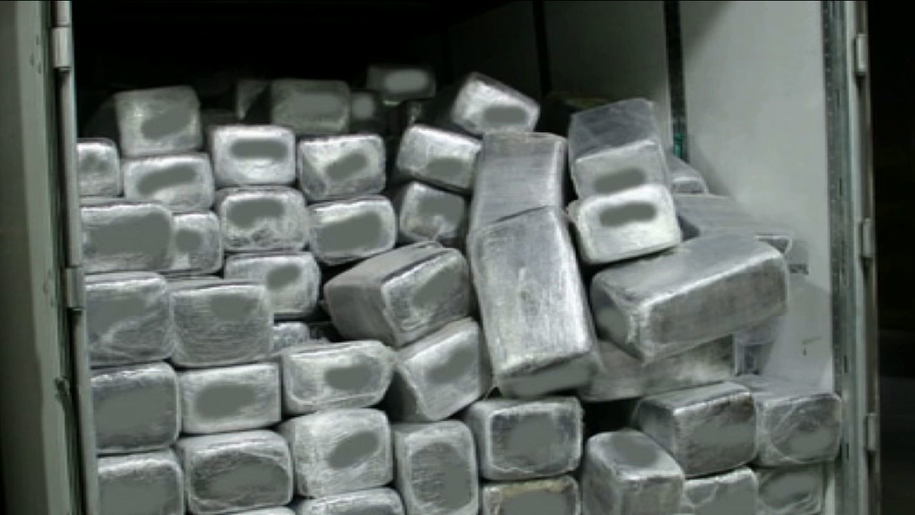 More than 1,200 packages of marijuana valued at nearly $19 million were seized Thursday, Feb. 26, 2015 from a truck-trailer at the Otay Mesa border crossing.