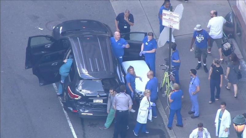Police: Driver hit pedestrians, SUV outside Thomas Jefferson Hospital