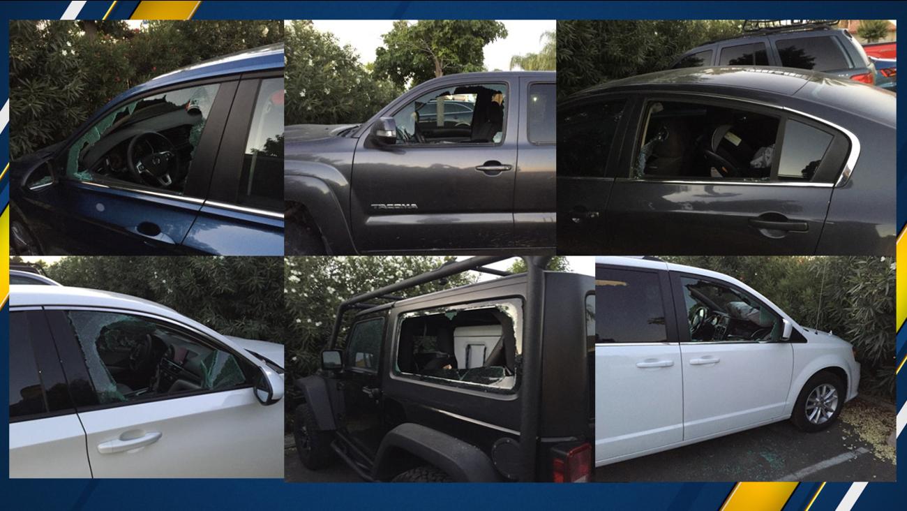 20 vehicles smashed by burglar at Coalinga hotel, deputies say