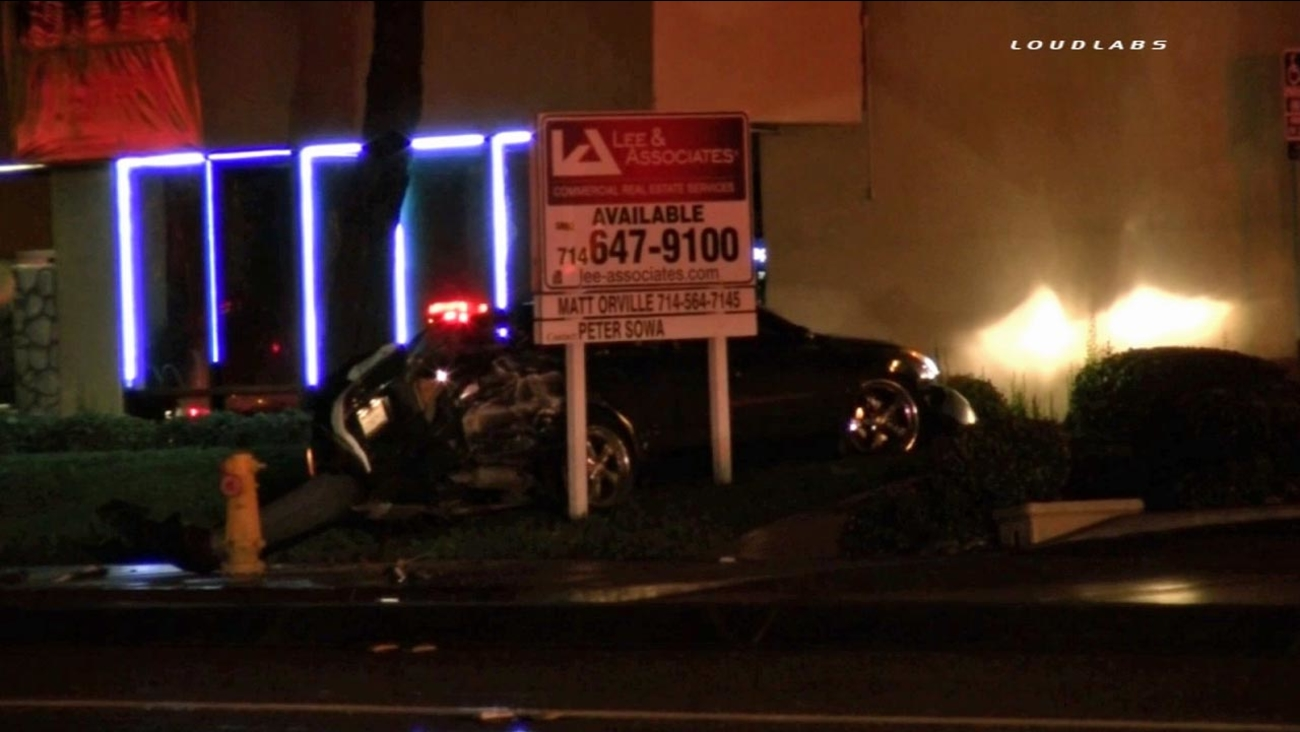 The driver of a Nissan Altima crashed his car into nearby gas meters, causing a gas leak in the 15400 block of Valley Boulevard in the City of Industry on Sunday, March. 1, 2015.