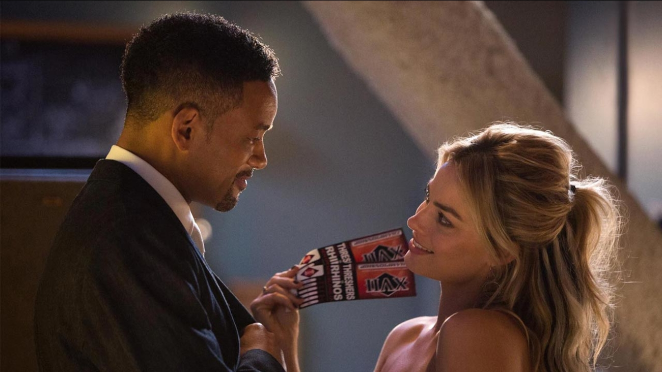 "Will Smith and Margot Robbie star in the con-man caper ""Focus,"" which dethroned ""Fifty Shades of Grey"" at the box office."
