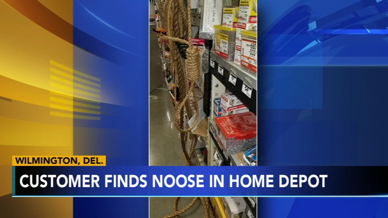 Customer Finds Noose Hanging At Home Depot In Wilmington Delaware 6abc Philadelphia