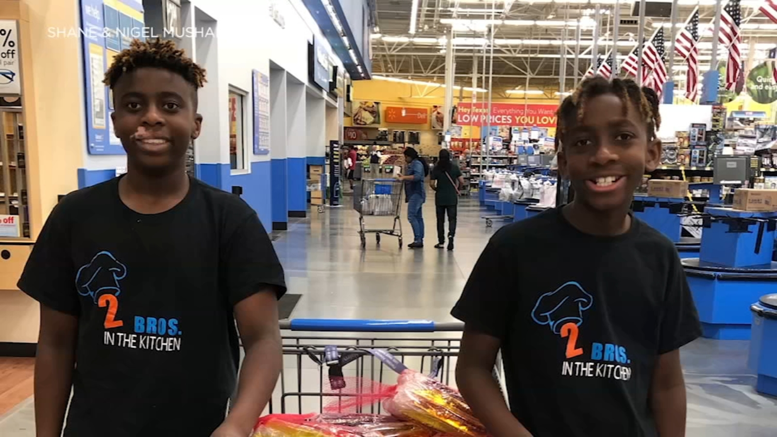 Texas brothers, 12 and 13, balance owning bakery and college classes