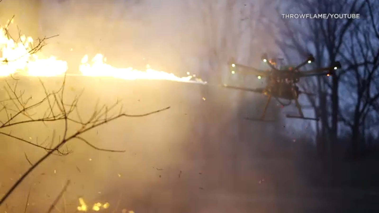 New attachment turns drones into aerial flamethrowers