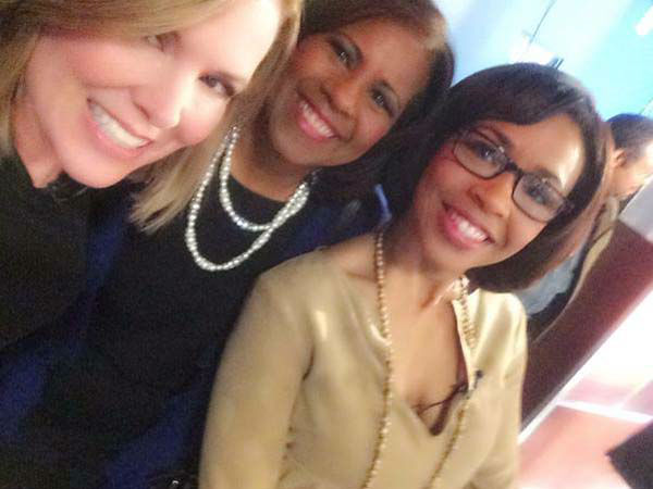"""<div class=""""meta image-caption""""><div class=""""origin-logo origin-image none""""><span>none</span></div><span class=""""caption-text"""">Casey, Melanie, and Gina all in the newsroom early Friday morning (KTRK Photo)</span></div>"""