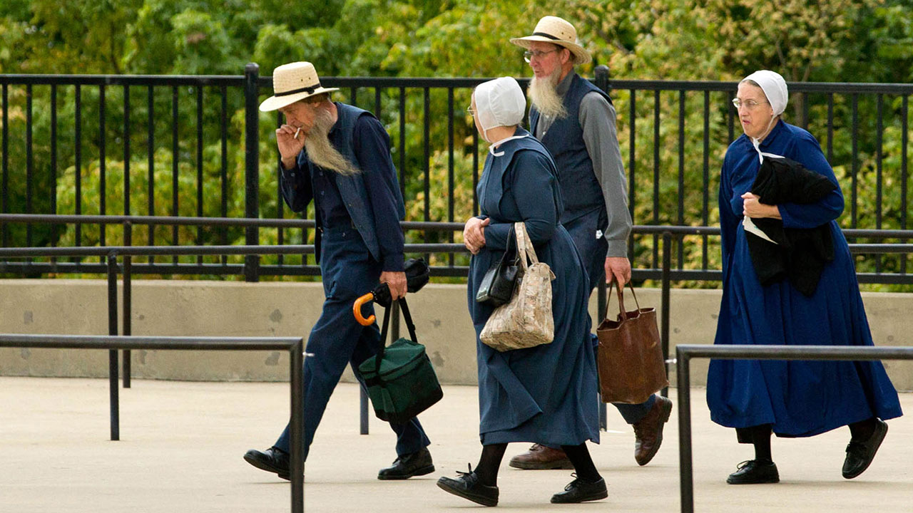 Members of the Amish community