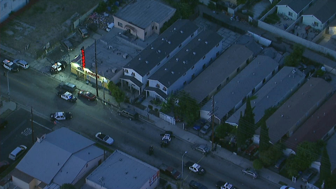 A massive police presence descended on a Watts neighborhood after a report of a shooting Wednesday night.