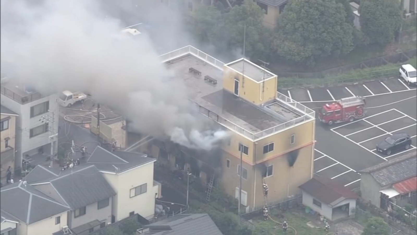 At least 20 killed after suspect sets anime studio on fire in Tokyo