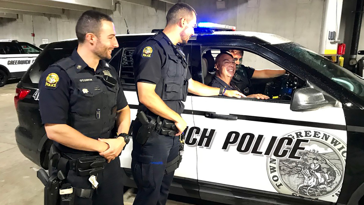 4 is a Charm: Retiring Connecticut police sergeant works shift with 3 officer sons