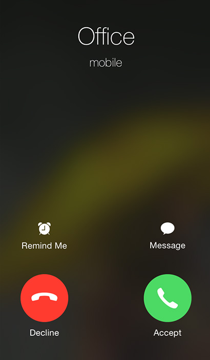 iphone 5 not receiving calls the reason why you to swipe to accept some calls and 17385
