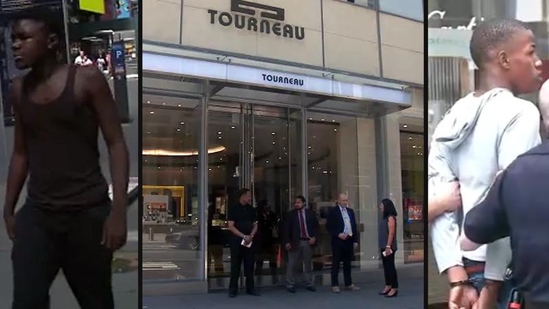 Eyewitness News camera captures Manhattan jewelry store thief fleeing scene