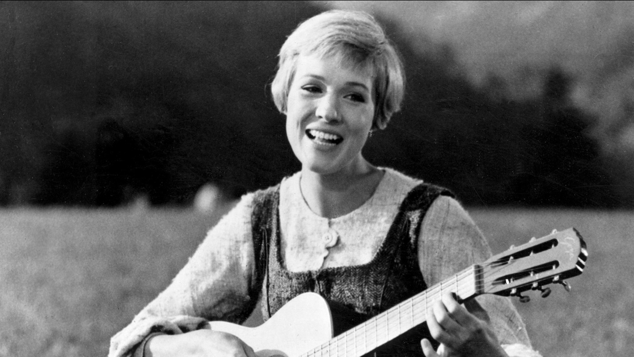 "FILE - This file photo shows Julie Andrews bringing music to the hills of Austria in this scene from ""The Sound of Music,"" the 1965 Oscar-winning film. (AP Photo, File)"