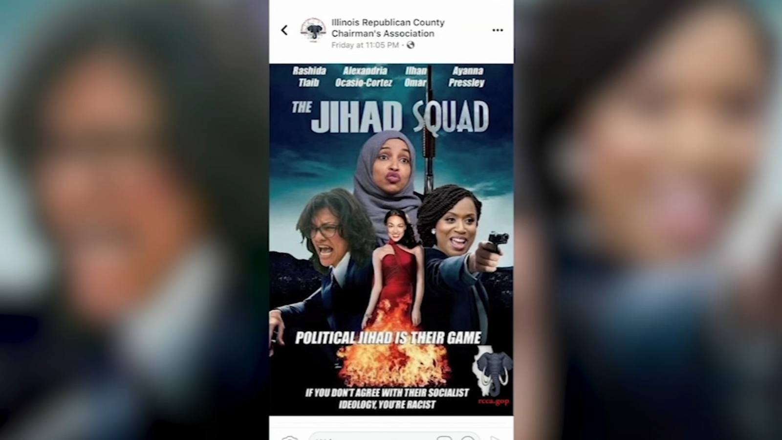 Republican group's 'Jihad Squad' Facebook post draws condemnation