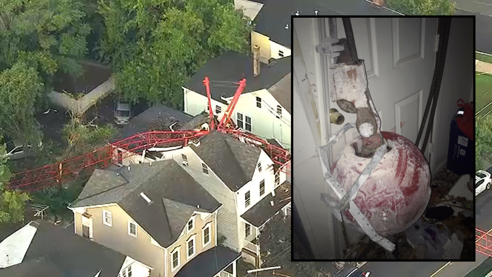 Crane comes crashing down onto 2 homes in New Brunswick ...