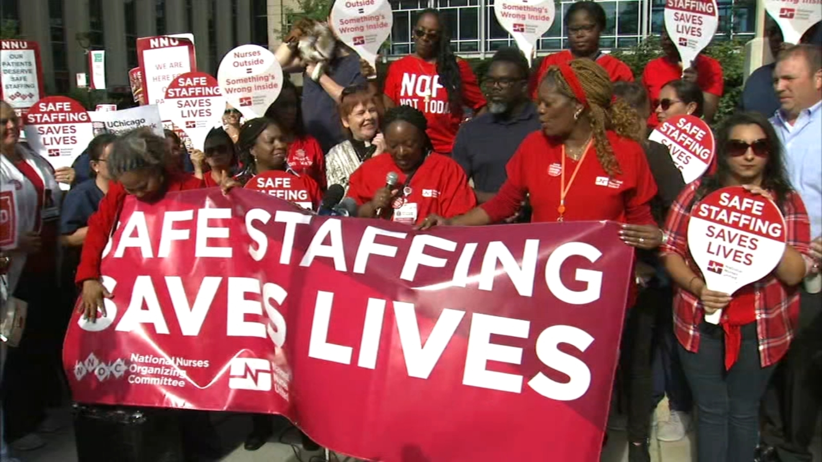 Nurses United picket at UCMC over patient care, safety concerns