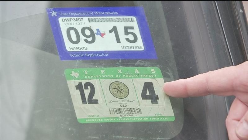 How To Get New Texas Car Registration Inspection Sticker Abc13 Com