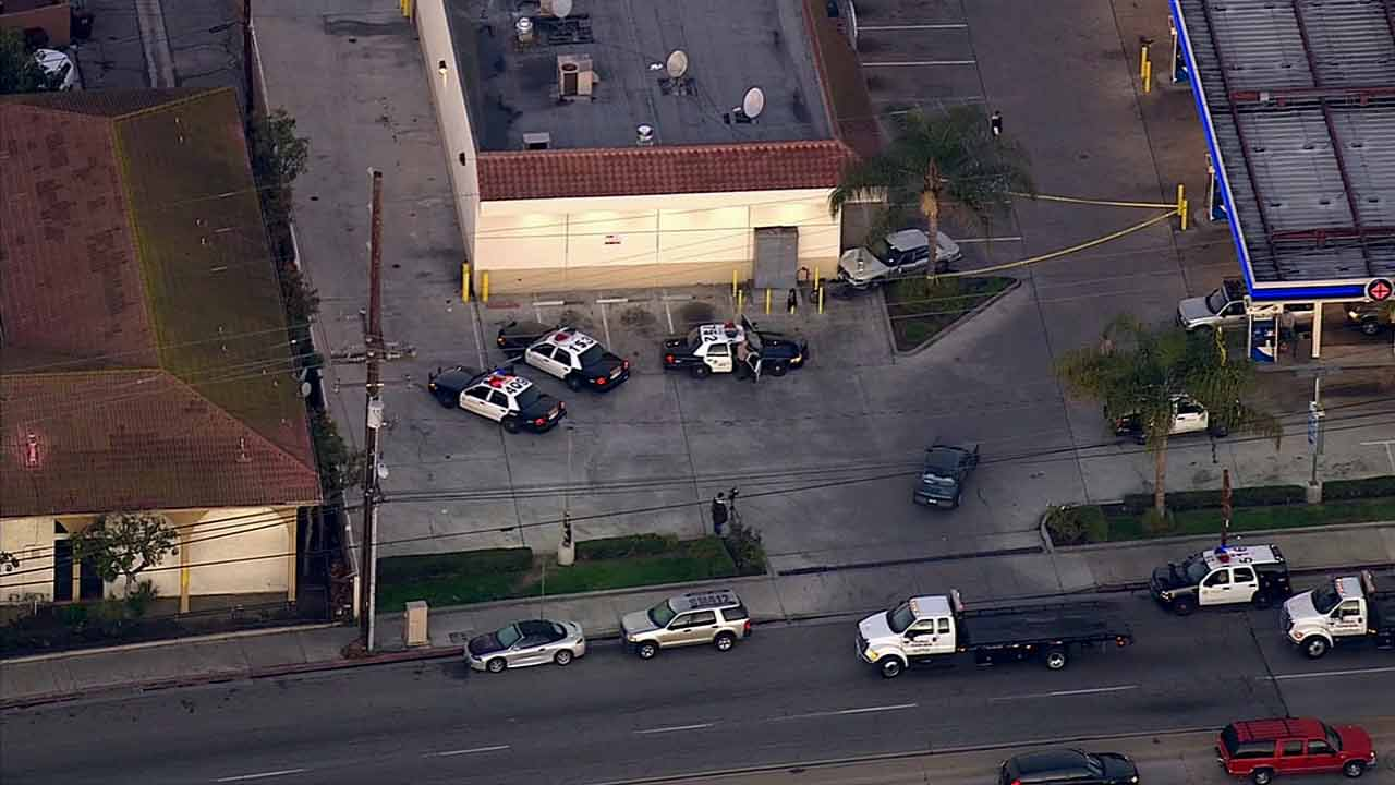 Crime tape ropes off the scene of a stabbing in Compton on Tuesday, March 3, 2015.