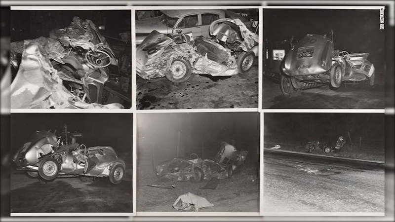 Never-released photos of James Dean's fatal crash up for auction