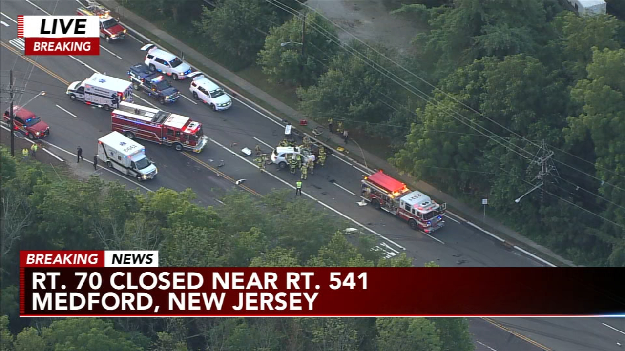 Truck crash shuts down Route 70, 1 pulled from SUV in