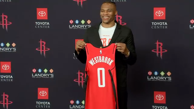 huge discount e0fca 677eb Rockets officially introduce Russell Westbrook