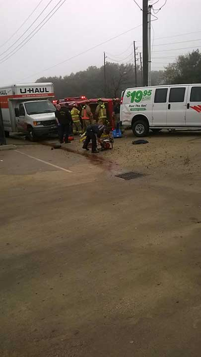 "<div class=""meta image-caption""><div class=""origin-logo origin-image none""><span>none</span></div><span class=""caption-text"">Firefighters had to use the Jaws of Life to reach a child trapped inside the overturned vehicle. Both mom and child were taken to an area hospital</span></div>"