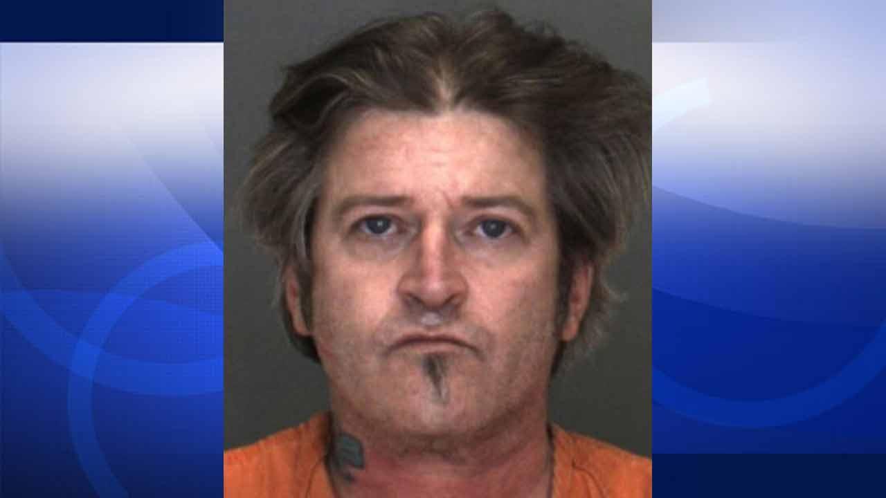 Buck Wylde Murphy, 49, is shown in a booking photo released by the San Bernardino County Sheriff's Department.