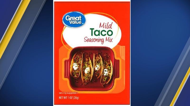 Some taco seasoning sold at Walmart recalled