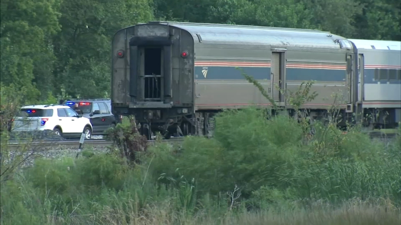 1 person dead, passengers stranded after Amtrak train hit vehicle, derailed  in University Park
