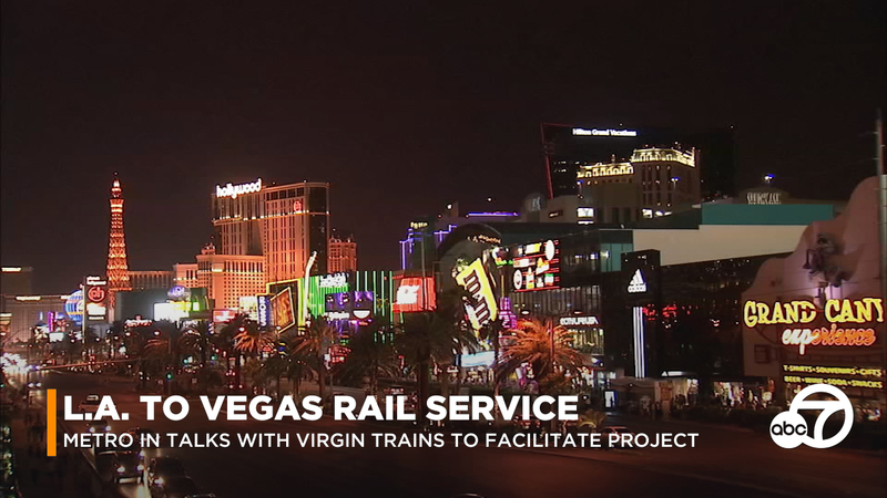 Abc Las Vegas >> Proposed Rail System Between L A And Las Vegas