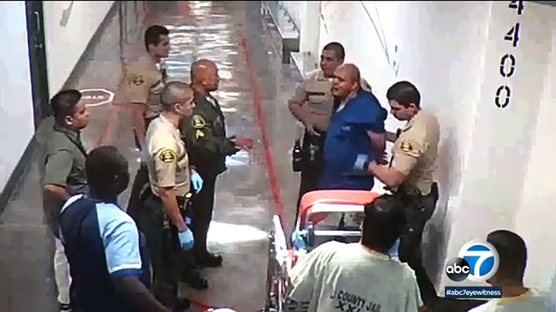 Video shows events leading up to death of inmate at L A  County jail