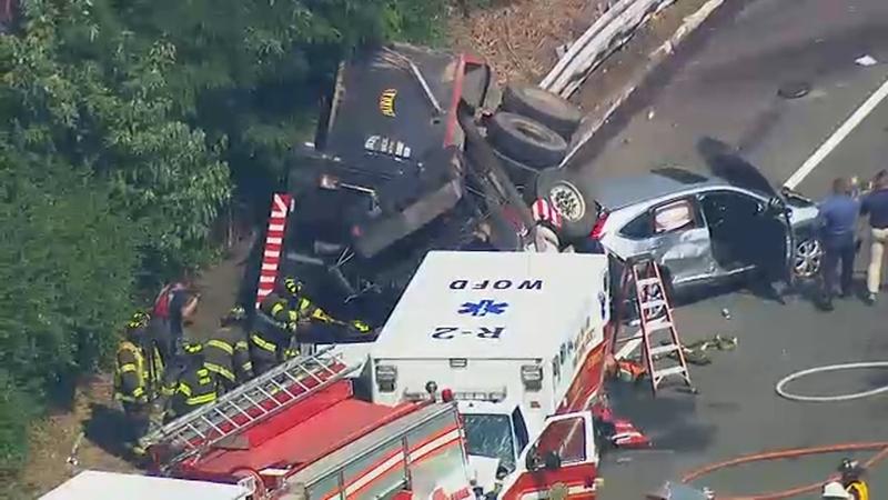 NJ State Troopers, pedestrians struck by dump truck in West Orange