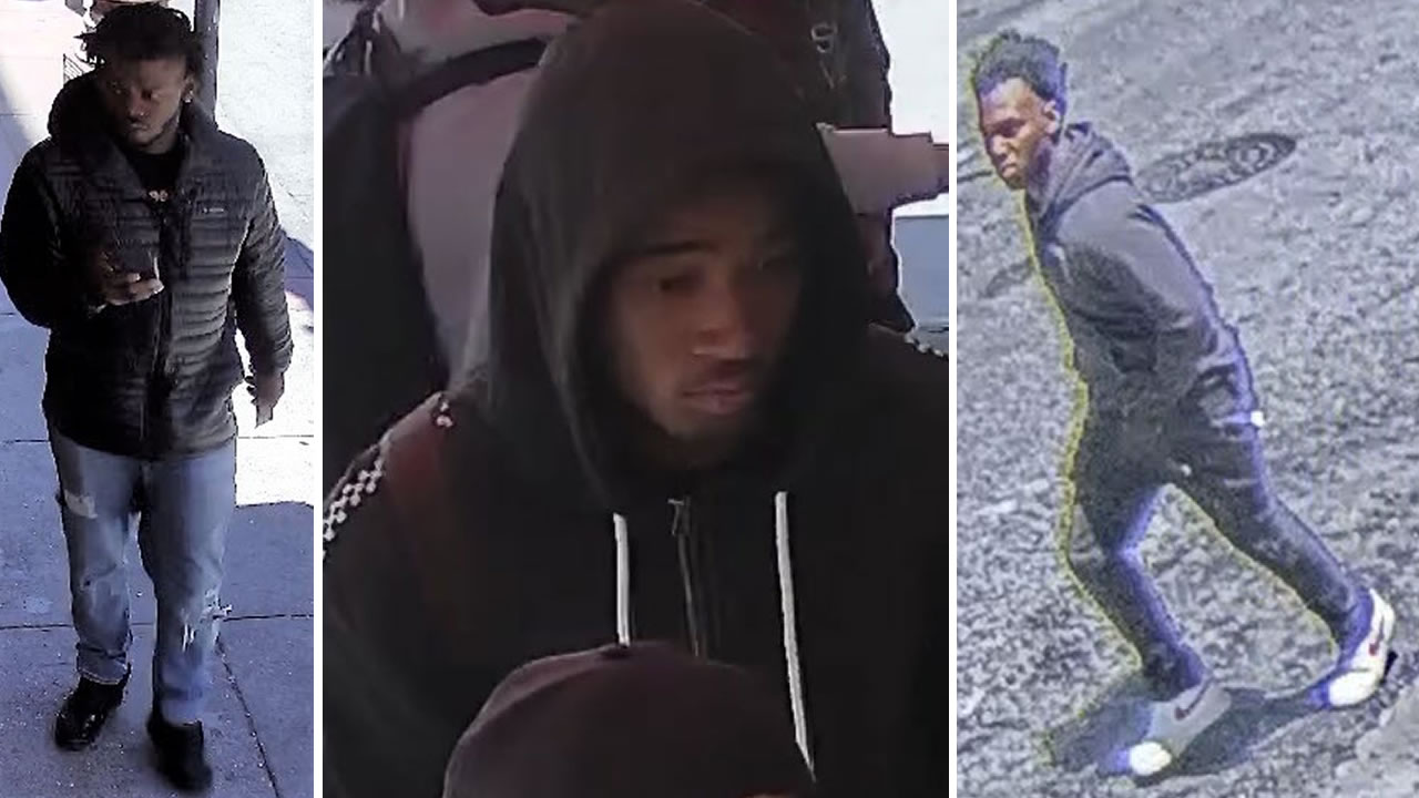 Surveillance photos show three young men, whom San Francisco police investigators believe are the suspects who violently attacked two men in Chinatown on July 15, 2019.