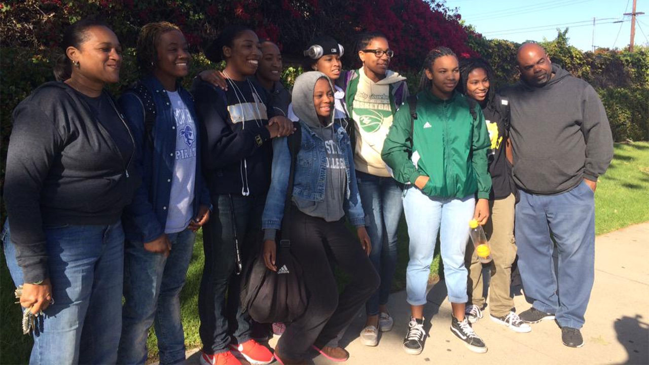 The Narbonne girls' basketball team was in happy spirits Tuesday, March 3, 2015 after an appeals panel reversed its previous decision that stripped the team of its playoff victory.