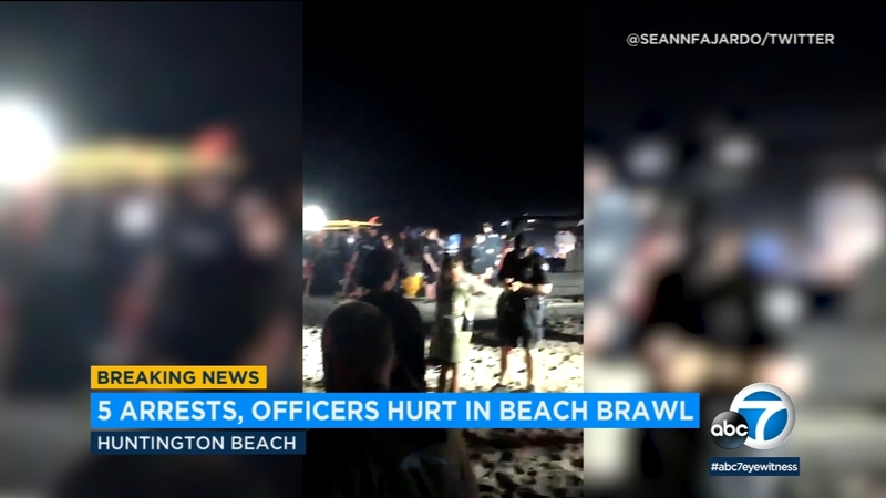 5 arrested after fight breaks out in Huntington Beach