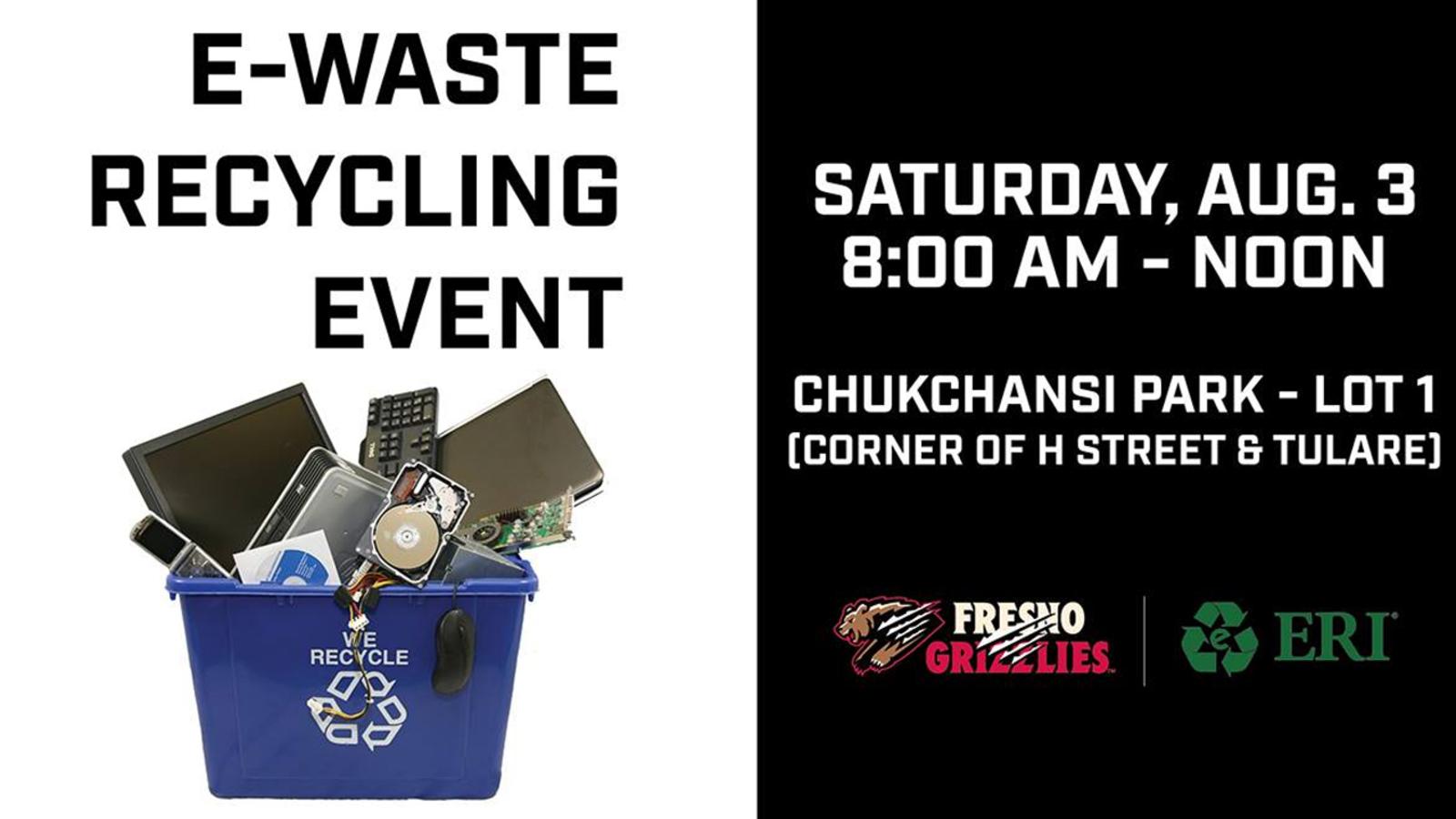 Fresno Grizzlies hosting e-waste recycling event
