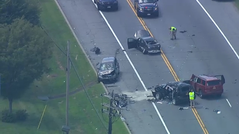 Several injured after police pursuit in Newburgh, New York, ends in crash