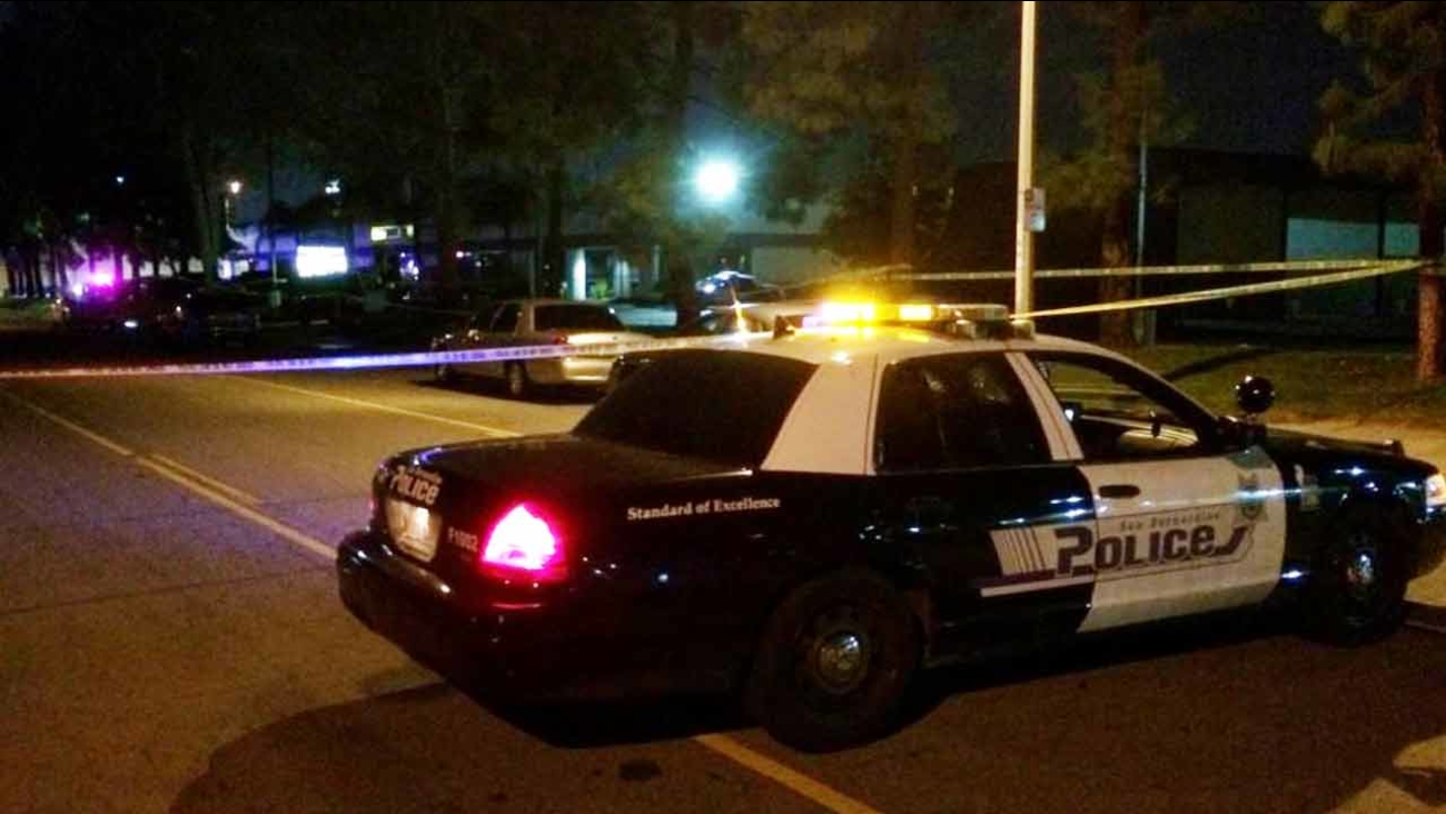 Crime tape ropes off the scene of a shooting at a night club in San Bernardino on Wednesday, March 4, 2015.