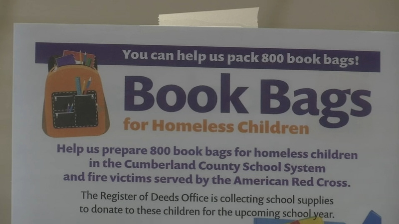 You can help with book bags for homeless children