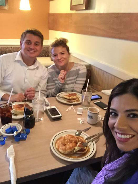 """<div class=""""meta image-caption""""><div class=""""origin-logo origin-image none""""><span>none</span></div><span class=""""caption-text"""">Steve Campion, producer Britt, and Patricia Lopez took part in National Pancake Day at IHOP (KTRK Photo)</span></div>"""