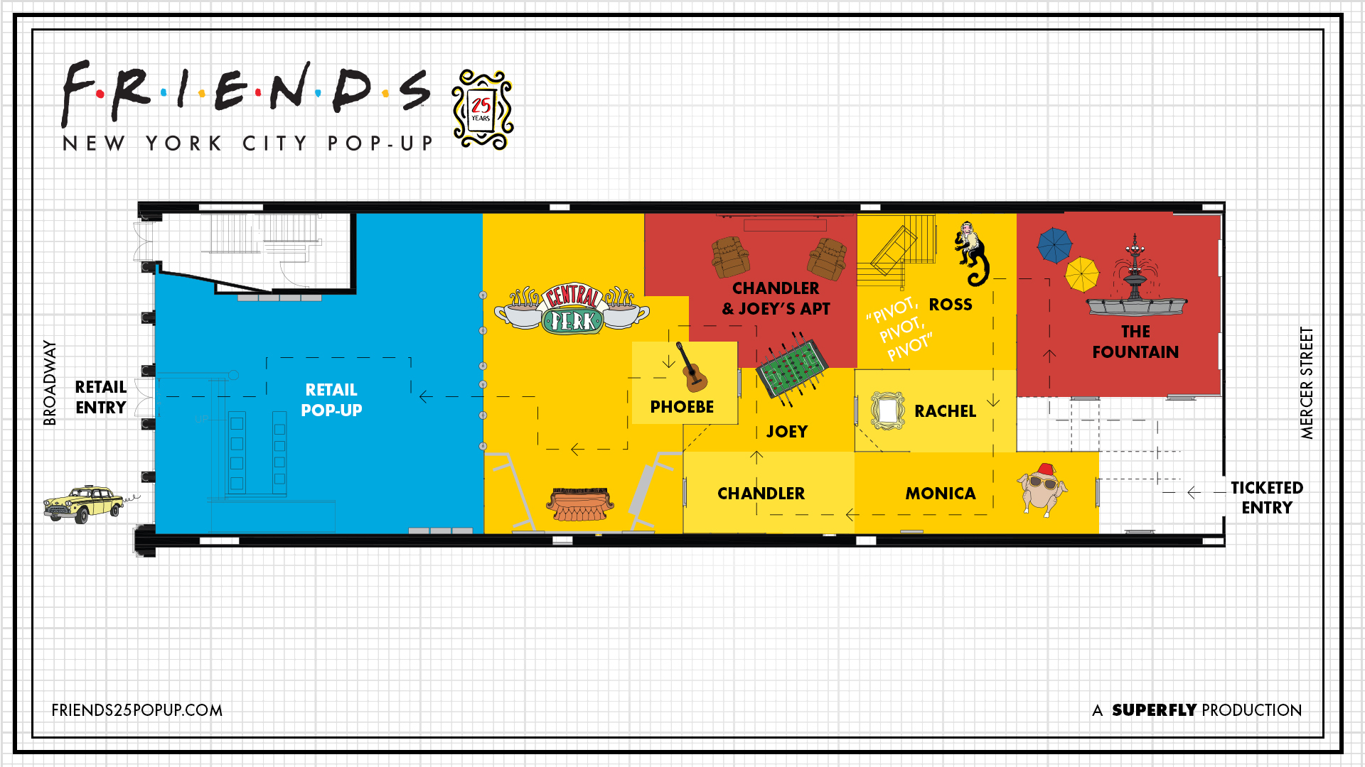 Map Of New York For Sale.New Friends Pop Up Experience Coming To New York City