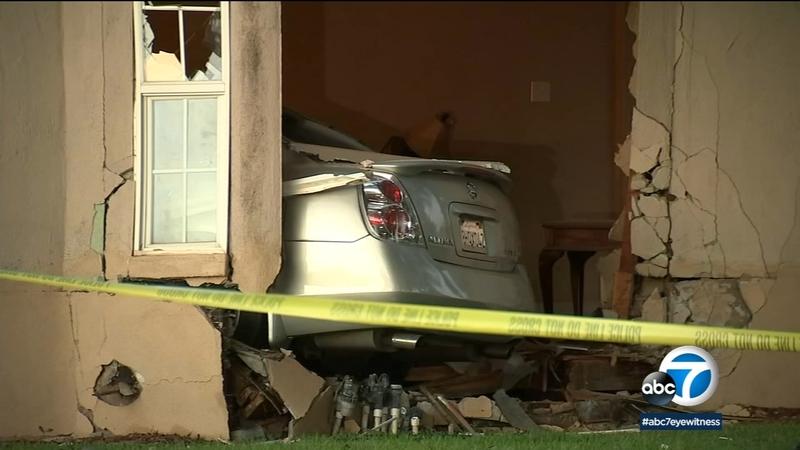 Suspect arrested after firing at officer, crashing into San Bernardino home