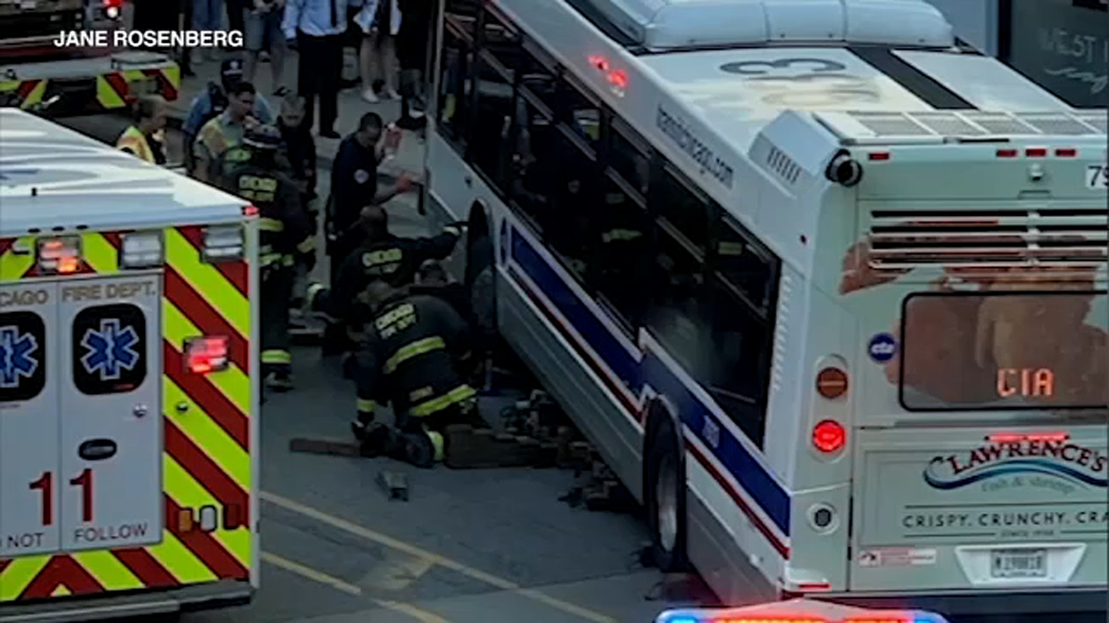 Woman seriously injured after getting trapped under CTA bus in Streeterville